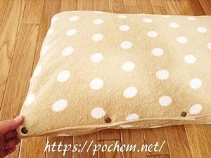 枕カバーが完成!