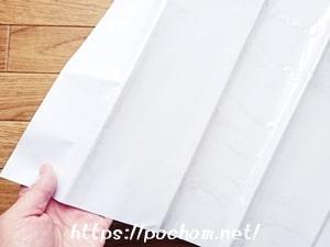 透明壁用シートの折り目