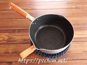 ニッティングヤーンで作った鍋敷