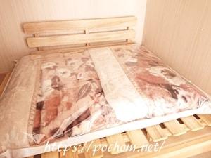 布団圧縮袋に毛布を入れる
