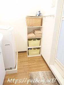 変更前の脱衣所の三段ボックス