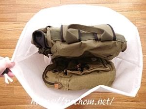セリアの不織布で作ったバッグ収納袋