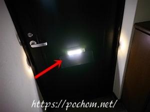 真っ暗な玄関