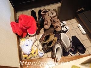 靴箱から出した靴