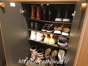 靴箱に入れた靴
