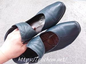 靴磨き後の靴